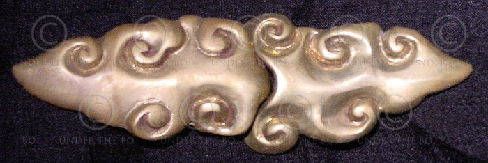 Solid brass buckle FB1, Chinese clouds