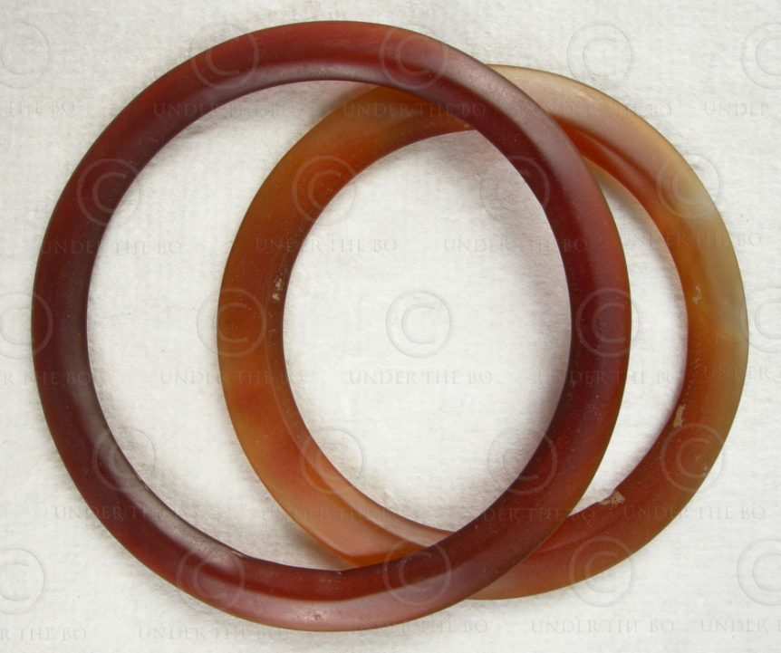 Bactrian agate bangles AFG73. Found in The Balkh area of ancient Bactria, Northe