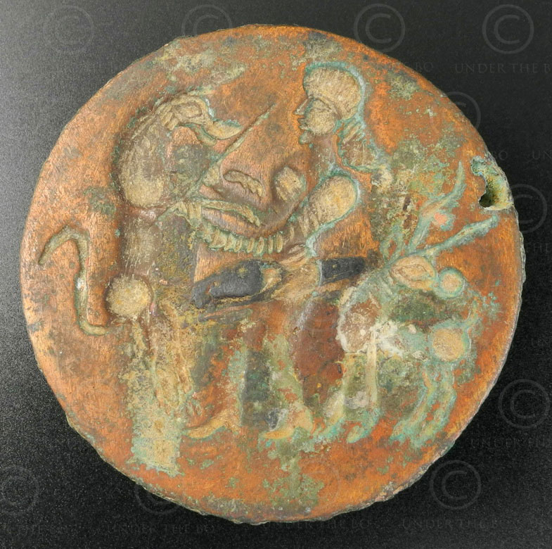 Bactrian bronze locket 13SH38A. North Afghanistan, ancient kingdom of Bactria.