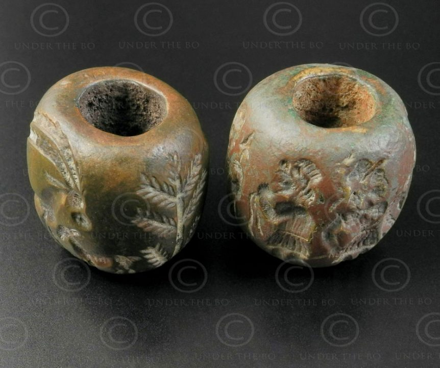 Bactrian bronze rolls seal BD270E. North Afghanistan, ancient Indo-Greek kingdom