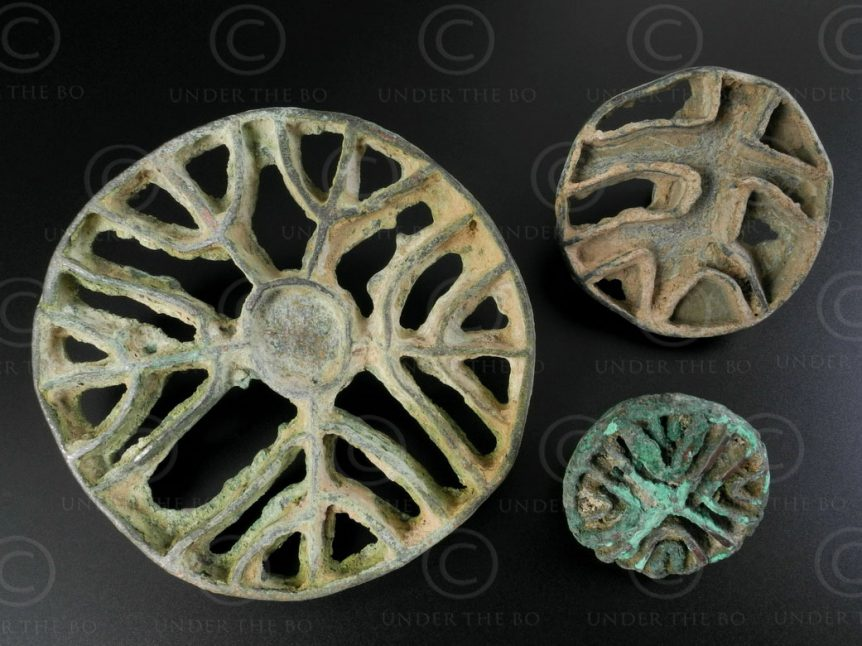 Bactrian bronze stamps AFG88. North Afghanistan, ancient kingdom of Bactria.
