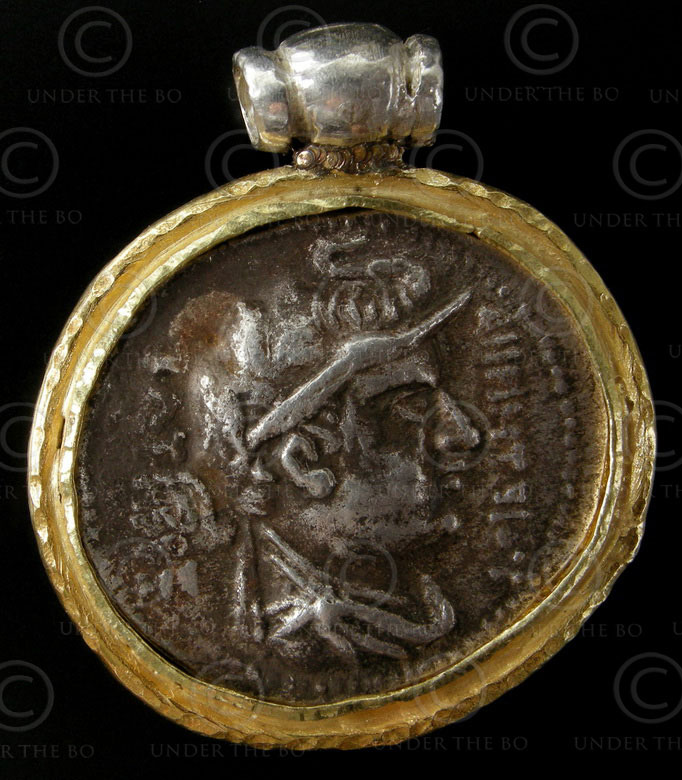 Bactrian coin pendant P193A. Bactria, Northern Afghanistan.