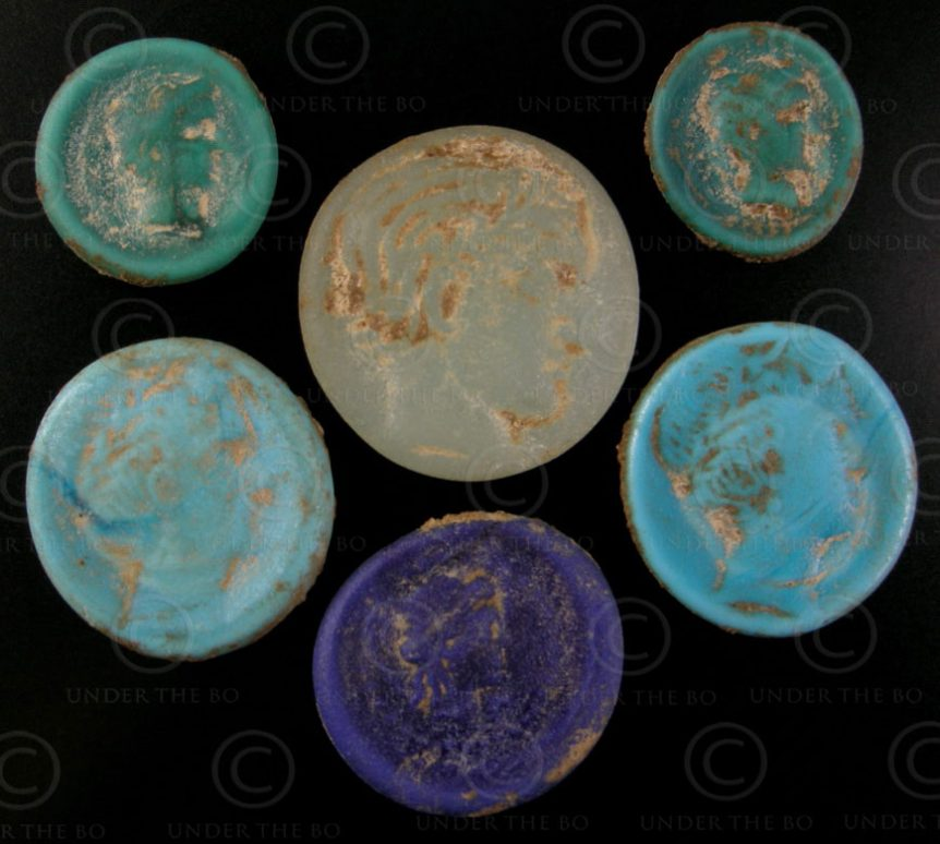 Bactrian glass tokens SH58. Northern Afghanistan.