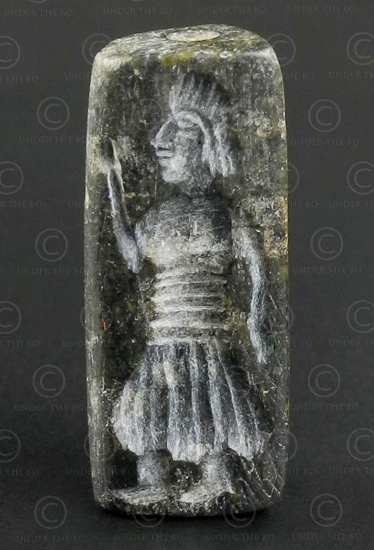 Bactrian schist seal SH76A. North Afghanistan, ancient Indo-Greek kingdom of Bac