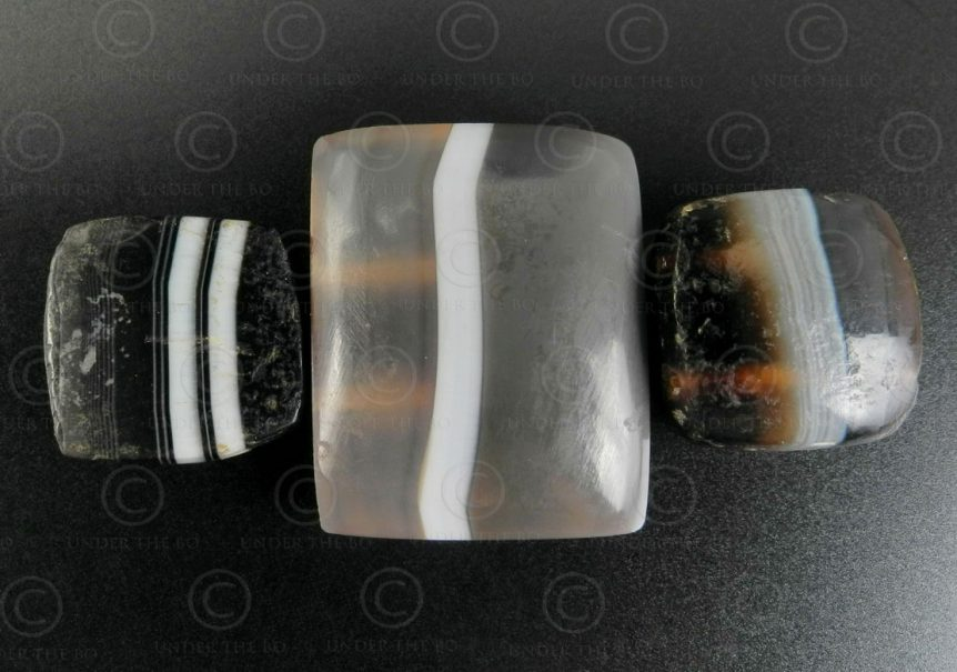 Banded agate beads BD279. Sourced in Afghanistan.