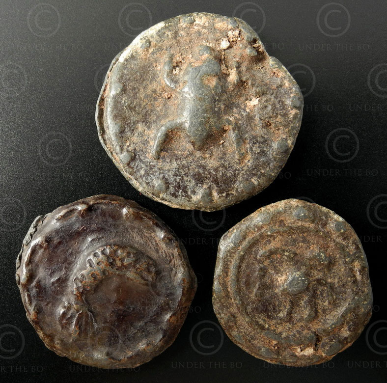 Pyu tin tokens C90. Pyu city-states (Burma).