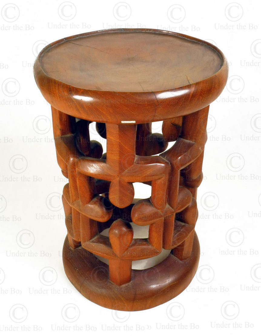 Cameroon style stool FV318. Under the Bo workshop