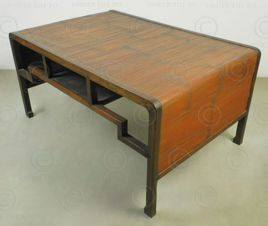 Chinese style table FVT5. Design François Villaret, Under the Bo workshop, Thail