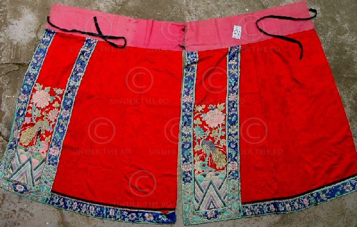 Chinese apron YA78. Worn by a minority's witch doctor.  Southern China.