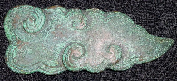 Solid bronze buckle FB5b. Chinese style cloud