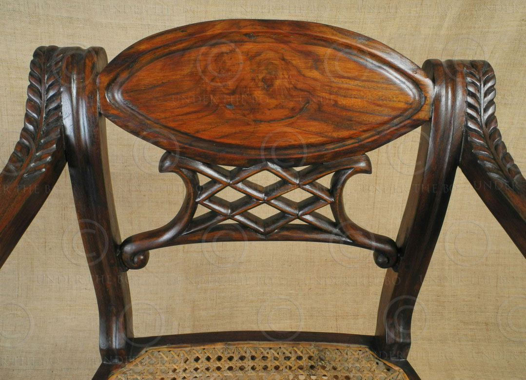Colonial armchairs FVC1. Indo-Dutch colonial style. Teak ...