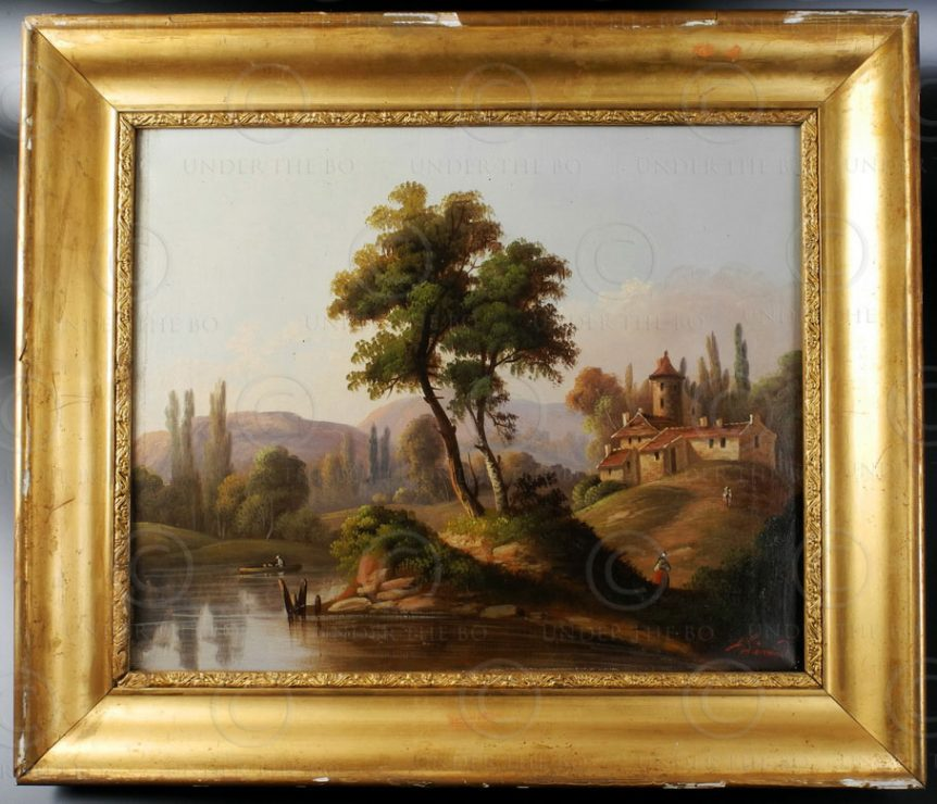 French painting FR9B. Signed Alexandre. French school.