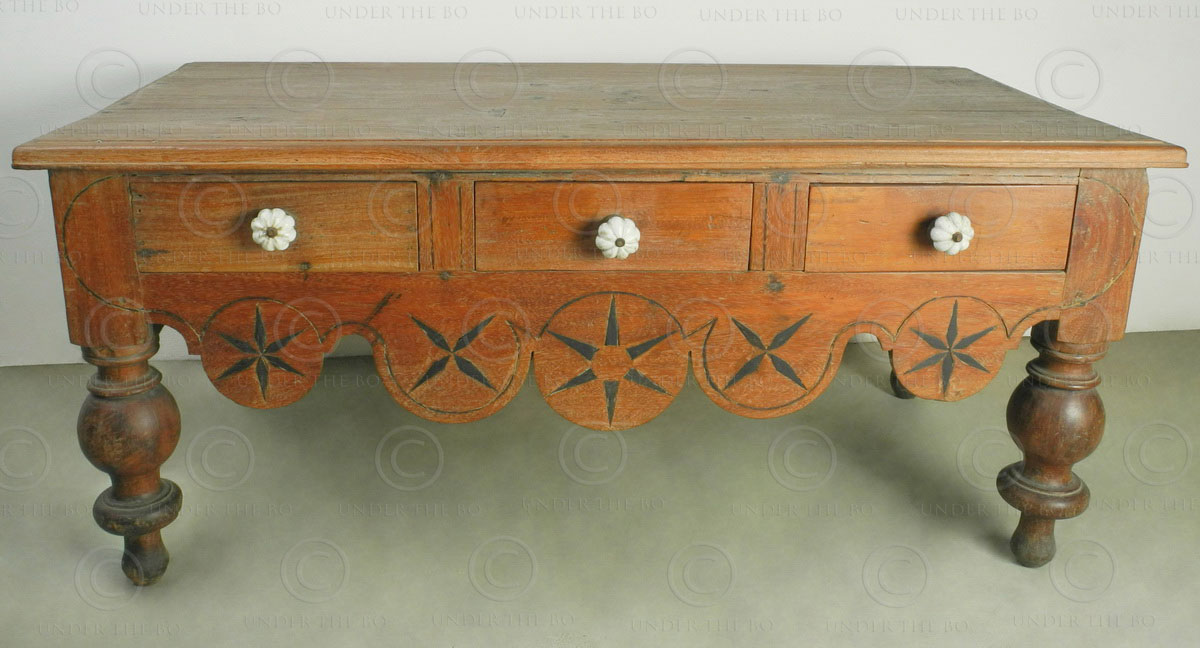Colonial Coffee Table I5 98 Dutch Colonial Cochin India