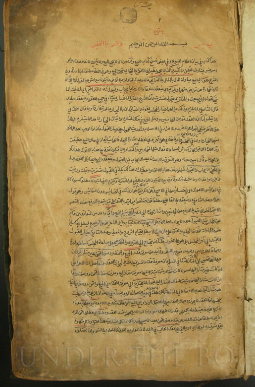 Islamic medical manuscript PK169. Swat valley, Pakistan.
