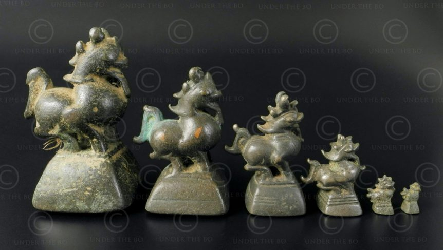 Lion Asian weights OP166. Burma.