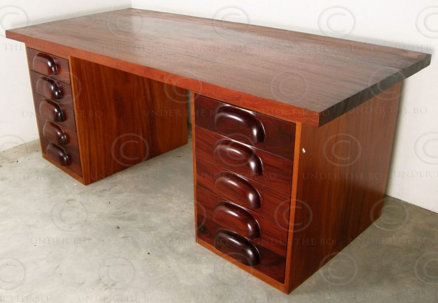 Massive desk FV121. Manufactured at Under the Bo workshop, Thailand.