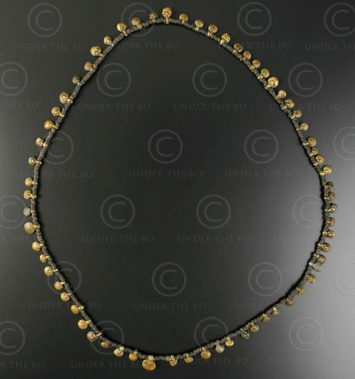 Orissa bronze necklace 187B. Kondh tribal culture, Orisha, India.