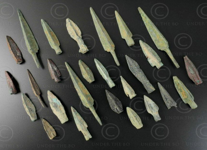 Parthian bronze arrowheads AFG92A. Indo-Parthian Kingdom, sourced in Afghanistan
