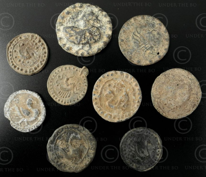 Pegu tin tokens C11.  Kingdom of Pegu (Lower Burma)