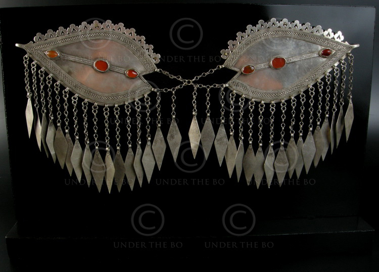 Pair Brooches P139. Turkmen, Afghanistan