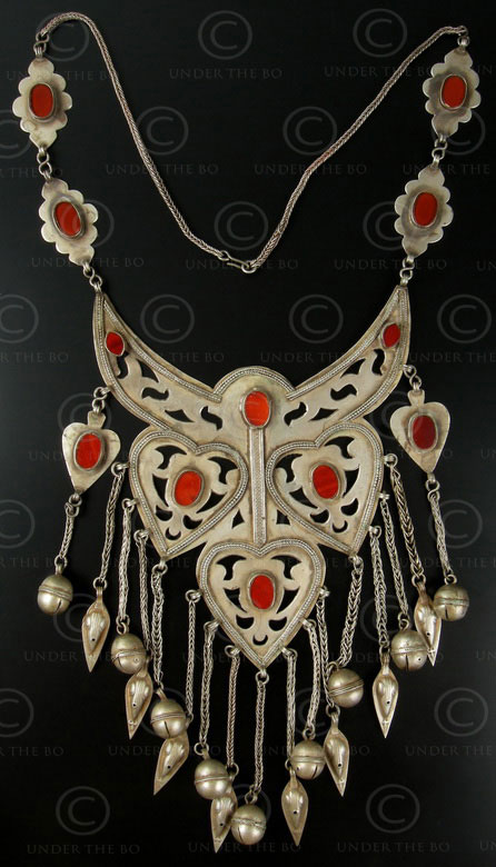 Turkmen necklace 581. Turmen culture of Central Asia, found in Afghanistan.