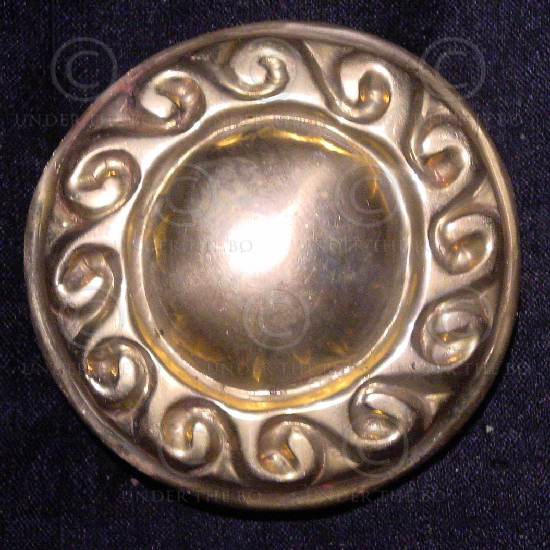 Solid brass belt buckle FB17a. Traditional Viking design