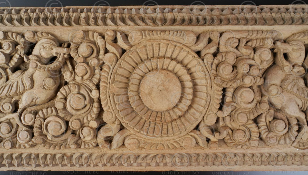 Indian carved lintel. LT18A. Tamil Nadu,, Southern India.