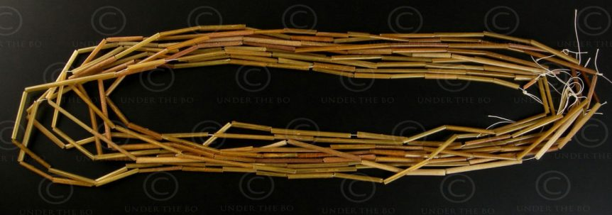 Gold-in-glass BD91. Lot of 9 strands of gold-in-glass beads. Islamic world.