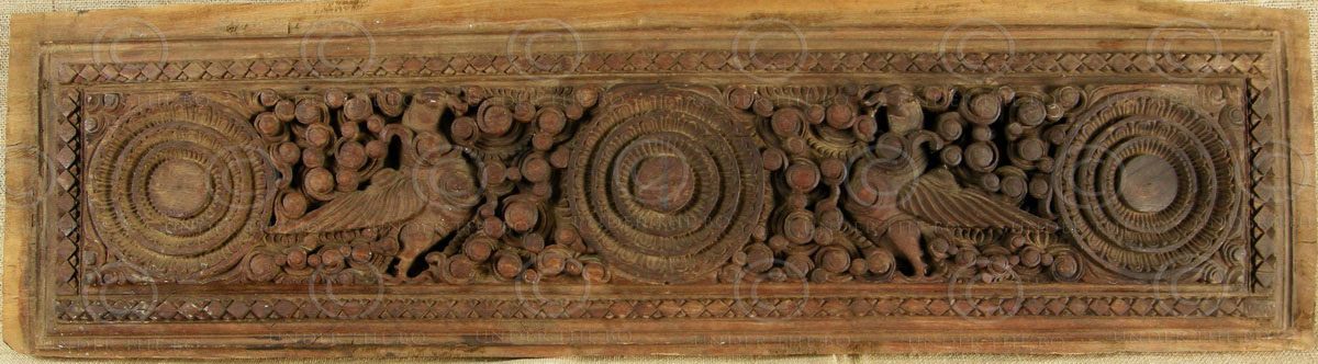 Indian Carved Panel 09bs8