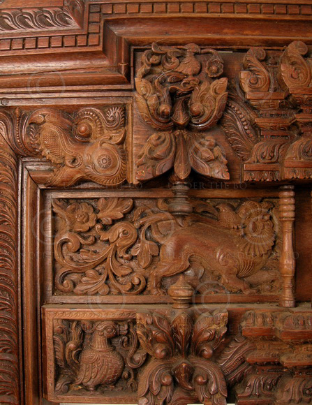 & Madras door frame 08MT16A. Teak wood. Madras Southern India.