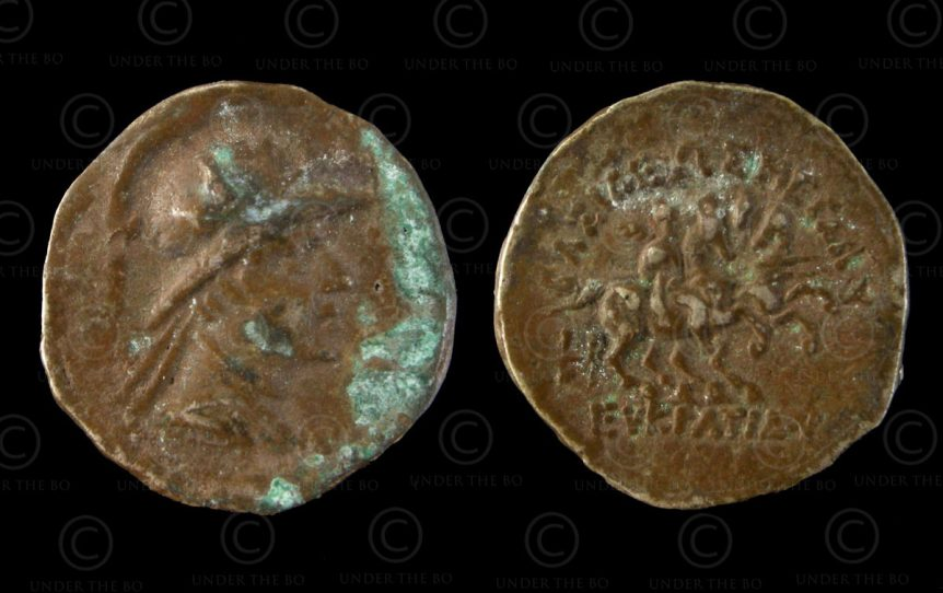 Indo-Greek coin C114. King Eukratides I. Bactria