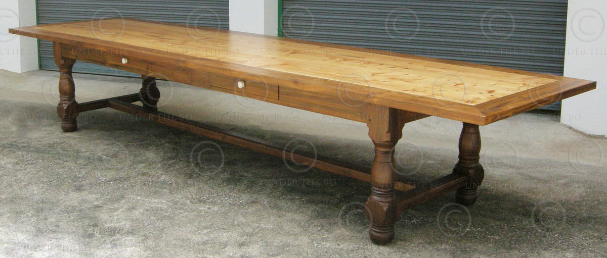 Table de salle manger fv130 atelier under the bo for Table de salle a manger style ancien