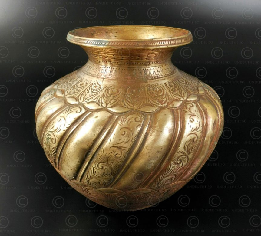 Fluted ablutions pot IN646. India.