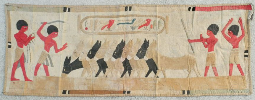 Egyptian revival tapestry AF14. Purchased in the Levant in the 1920s.