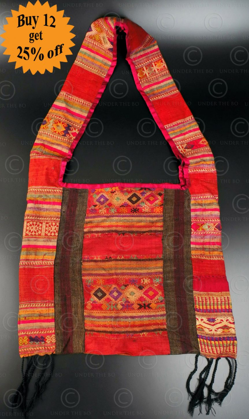 Silk weaving monk bag LA6F. Thailand.