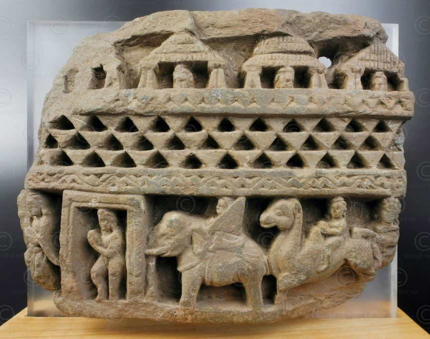 Gandhara stupa frieze fragment PK221. Swat valley, Pakistan.