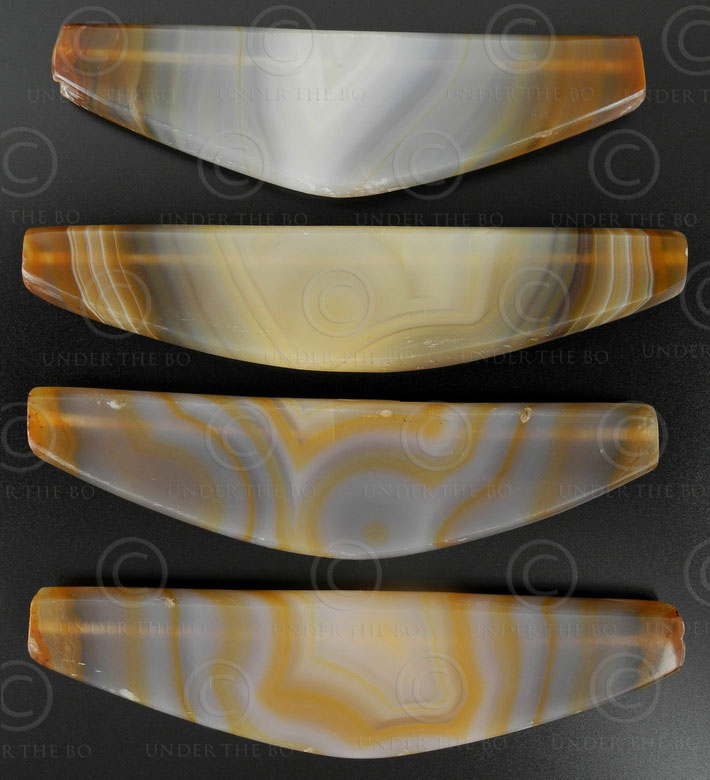Bow banded agates 13SH23B. Northern Afghanistan.