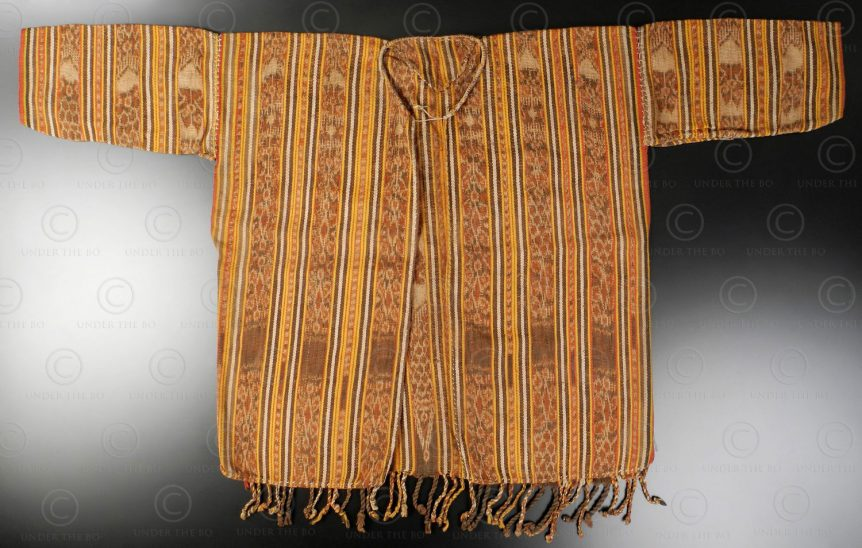 Iban ikat vest ID30. Iban Dayak tribe, Sarawak or West Kalimantan, Indonesia.