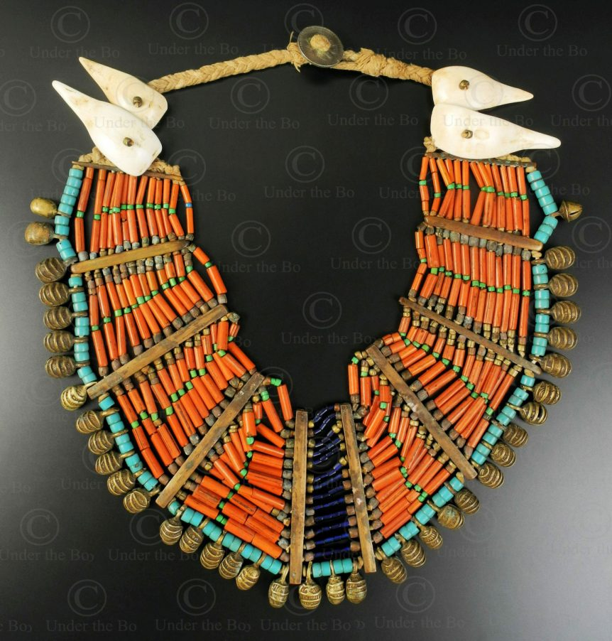 Nagaland necklace NA217. Konyak Naga sub-group, Wakching village, Nagaland, Eastern India.