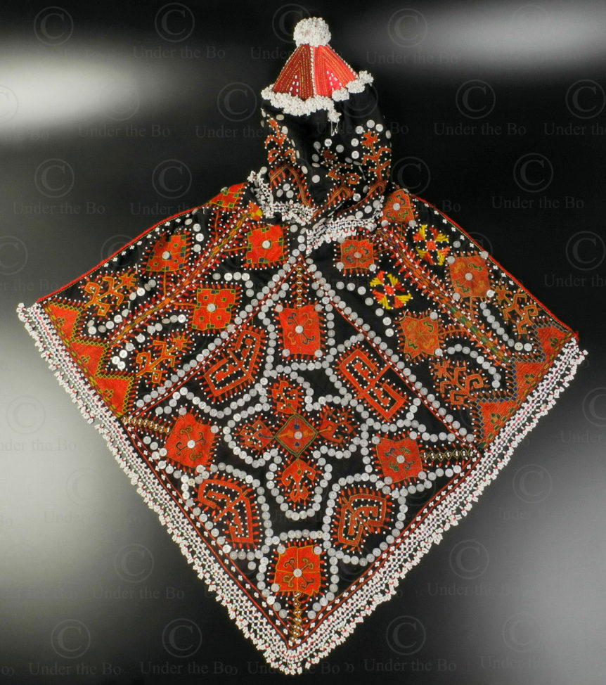 Kohistan girl's hat KO97. Tribal areas, Kohistan, Northern Pakistan.