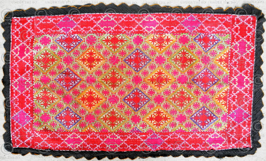 Embroidered Swat pillow KO96. Upper Swat valley, Northern Pakistan.