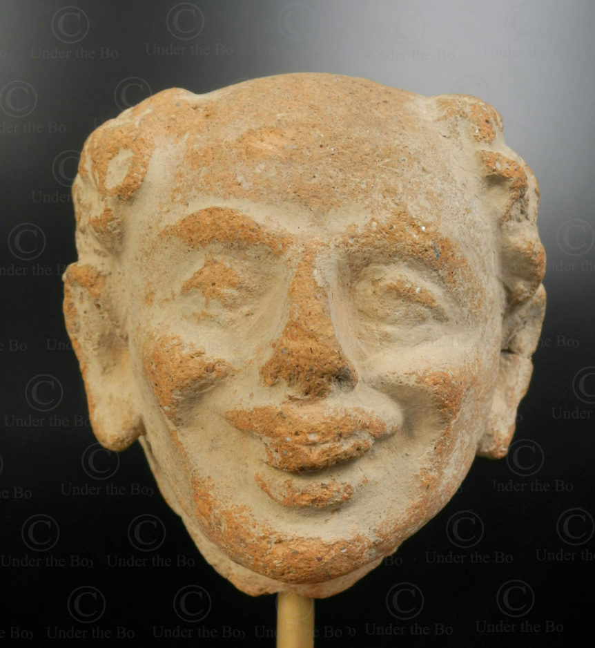 Gandhara terracotta head PK243. Ancient Buddhist kingdom of Gandhara. Found in the valley of Swat, Northern Pakistan.