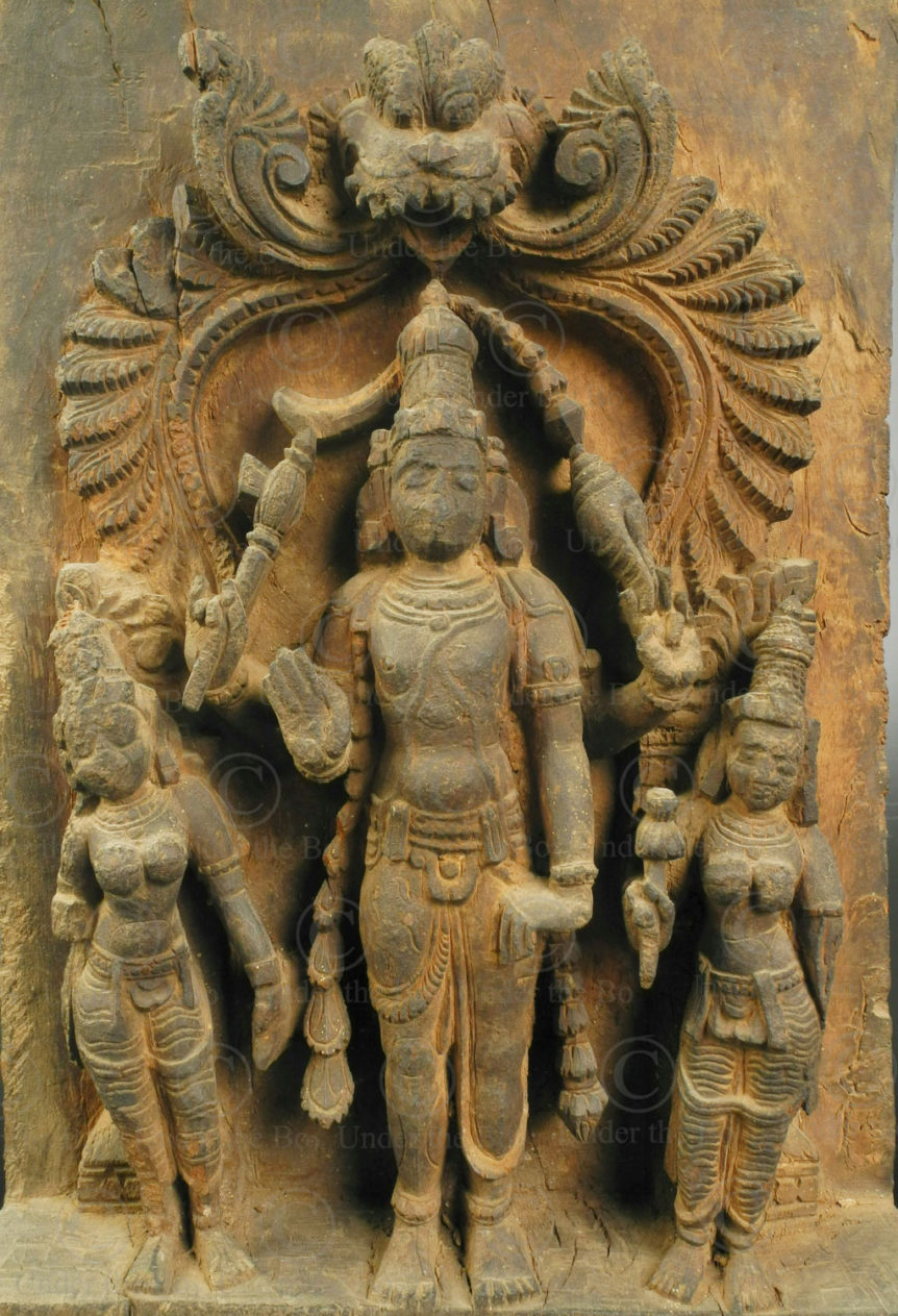 Harihara temple chariot panel IN690. Tamil Nadu state, Southern India.