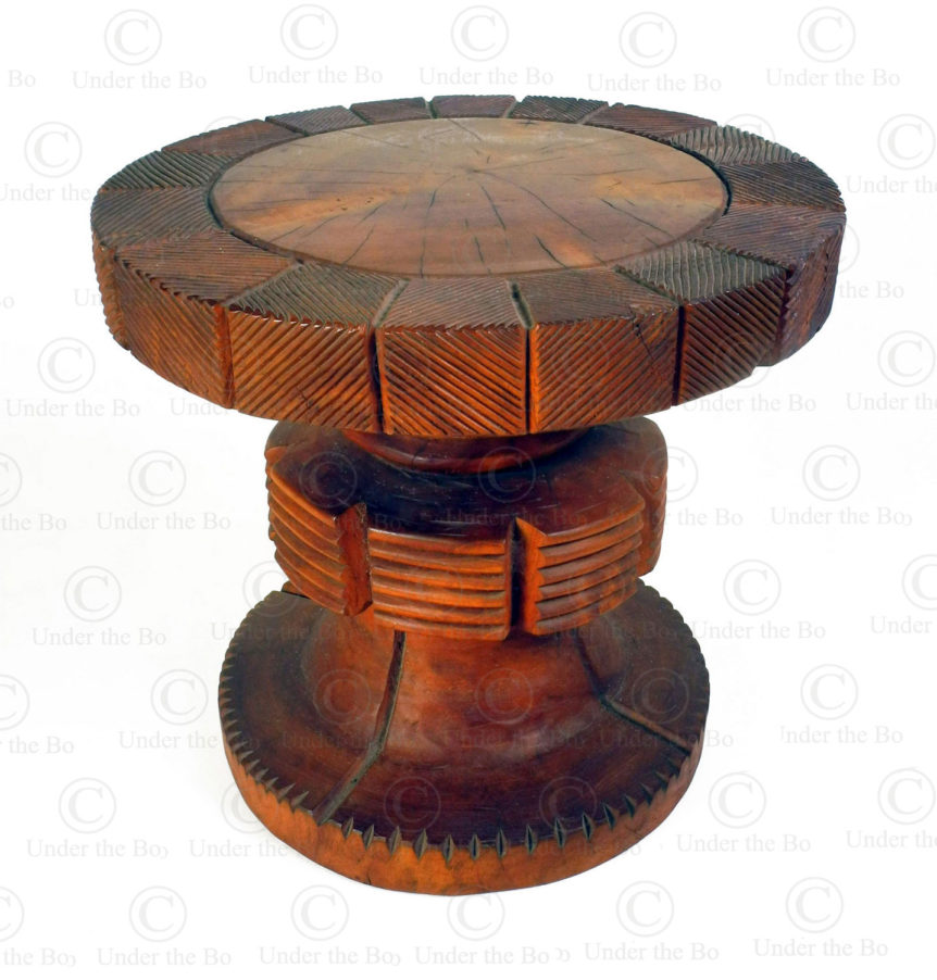 Mangbetu style stool FV519B. Made at Under the Bo workshop.